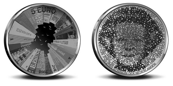 The new architecture coin from The Netherlands