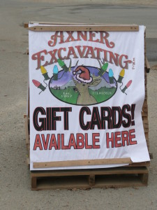 Axner Excavating gift cards